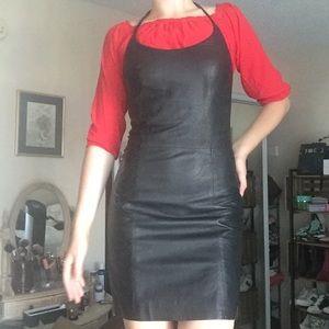 Leather Versace Dress